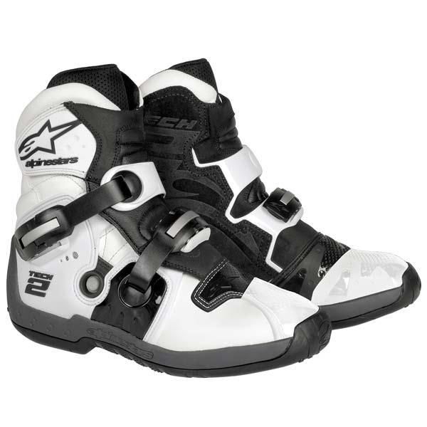 Alpinestars Tech 2 Mid Cut Mx Supermoto Dirtbike Pitbike Boots White