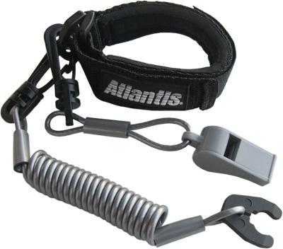 Atlantis Pro Floating Wrist/Jacket Lanyard with Whistle
