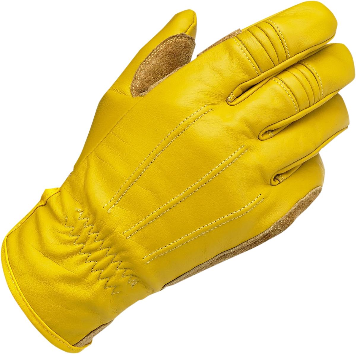 Leather work gloves ebay - Biltwell Gold Leather Mens 039 Motorcycle Work Gloves