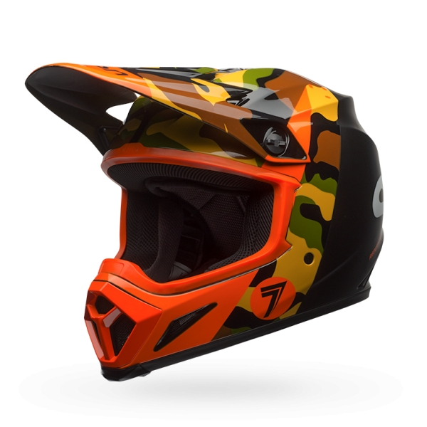 bell mx 9 seven soldier dirt bike off road mips helmet see sizes orange camo ebay. Black Bedroom Furniture Sets. Home Design Ideas