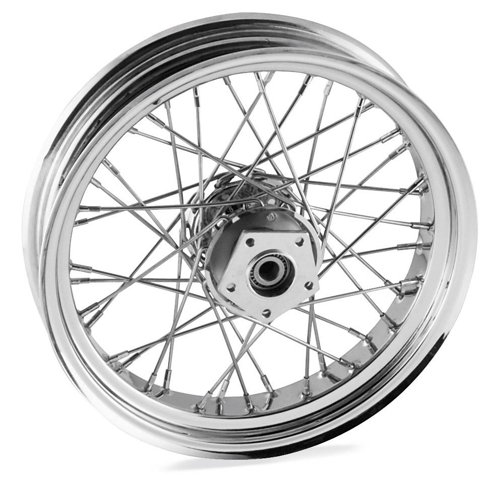 18 x 3.5in. Dual Disc Front Wire Wheel