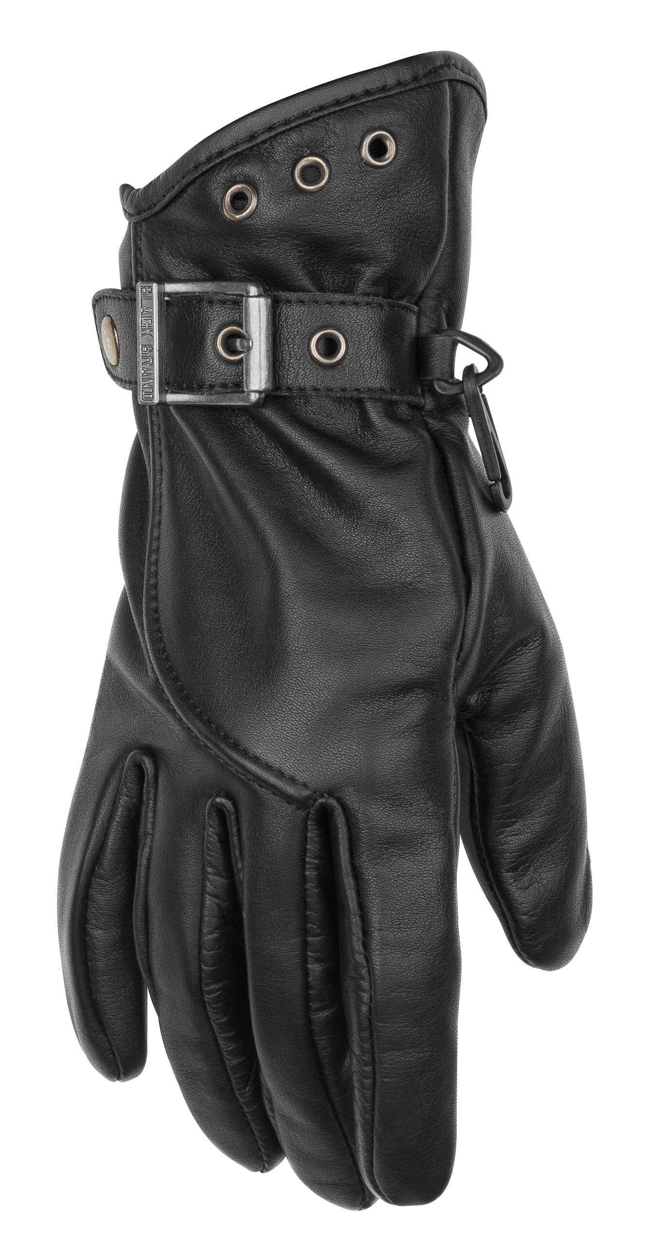 Black Brand Crystal Women's Gloves