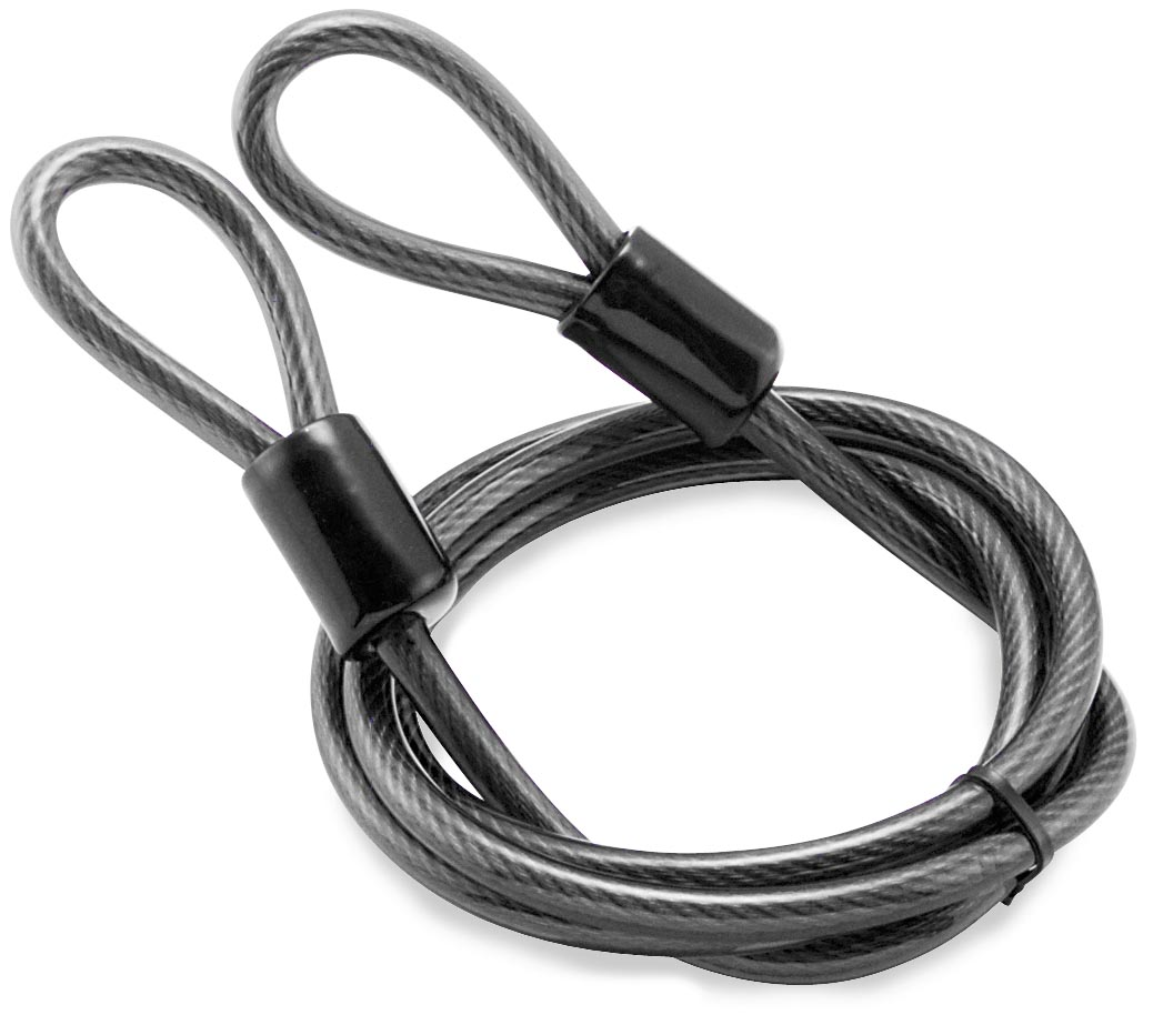 Bully Locks Bully 3/8in. x 7ft. Straight Cable with Double Loop