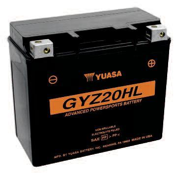 Drag Specialties GYZ High Performance Maintenance Free Battery