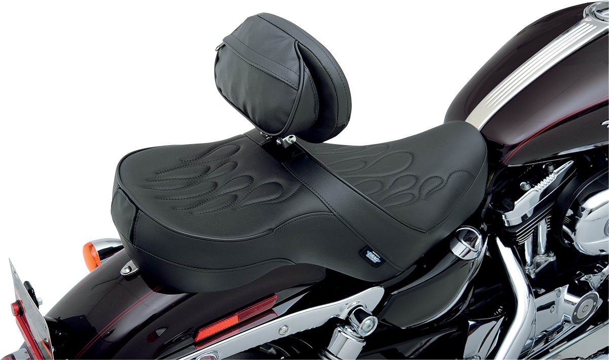 Drag Specialties The Convertible EZ Glide I Backrest with Built-In Rain Cover  for Parts Unlimited Seats - Smooth