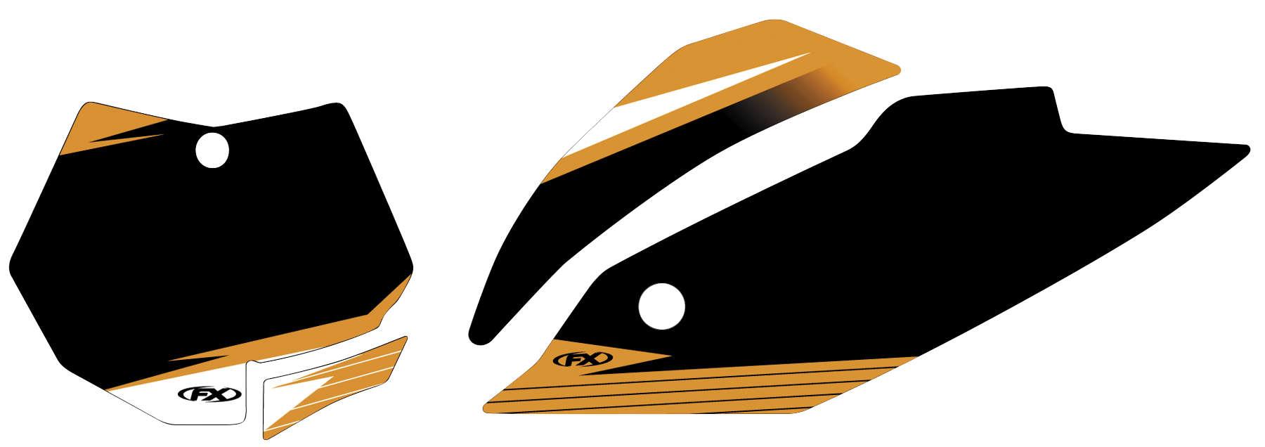 Factory Effex KTM EVO Pre-Cut Backgrounds