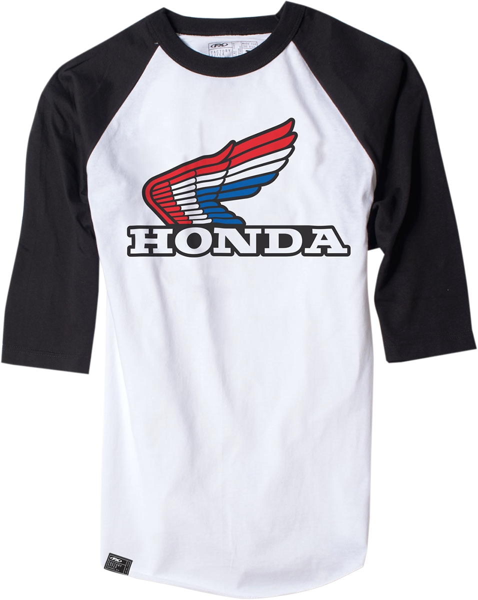 FACTORY EFFEX-APPAREL Honda Vintage Baseball T-Shirt #