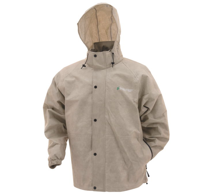 The Frogg Toggs® Bull Frogg Rain Jacket for Men is equipped with a waterproof 75 gram polypropylene shell featuring a full-zip front with a full-length storm flap, two zippered handwarmer pockets, elastic sleeves with hook 'n' loop closures, and an elastic waist. Machine wash. Imported. Manufacturer style #: /5(28).