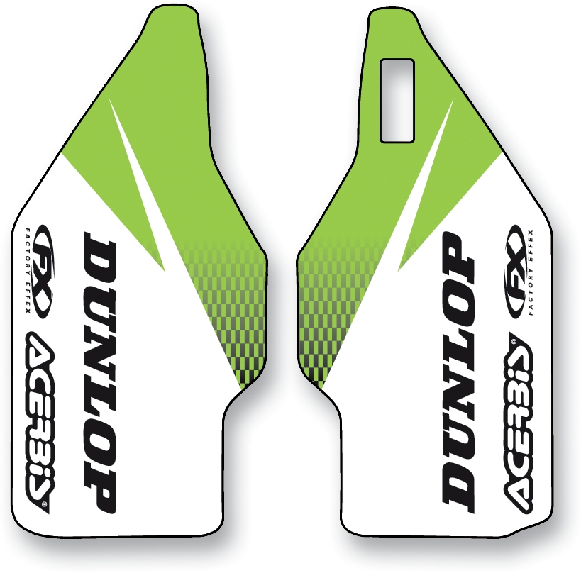 Factory Effex Lower Fork Dunlop Graphic Kit