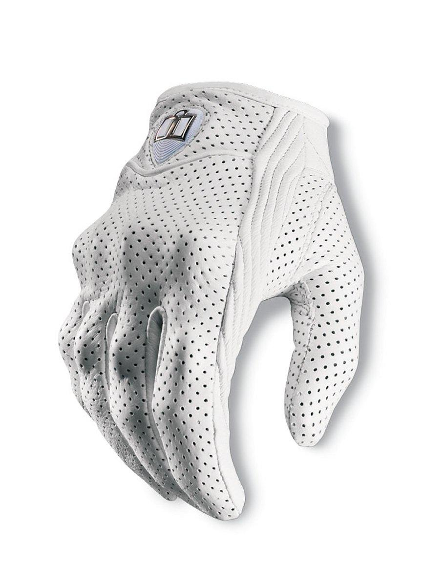 Womens leather motorcycle riding gloves - Icon Pursuit Womens Perforated Gloves
