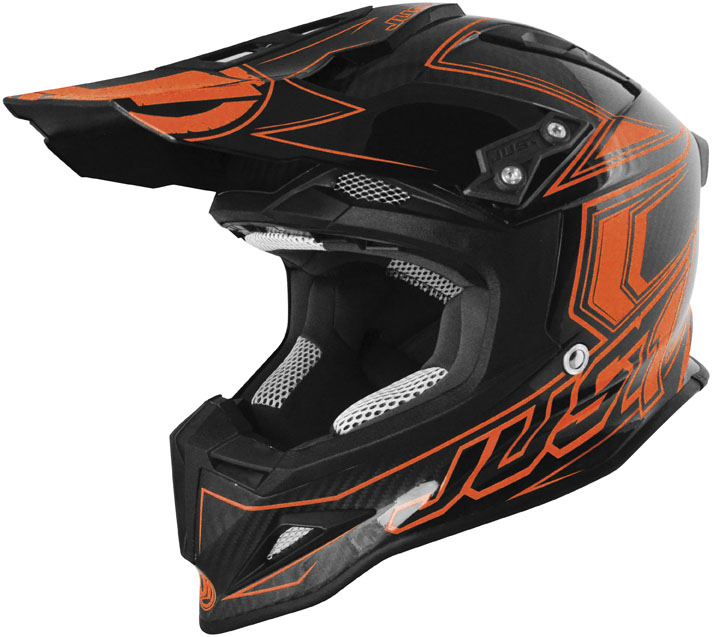 JUST 1 J12 Carbon Fluo Helmet