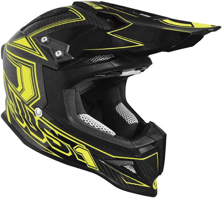 JUST 1 J12 Carbon Fluo Helmet