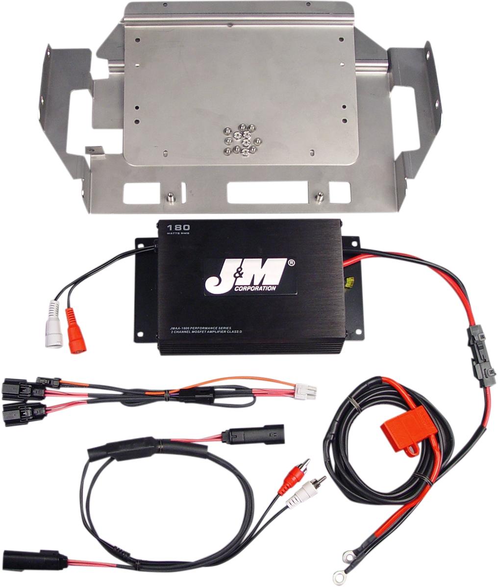 J & M Performance Series 180W Two-Channel Amplifier Kit