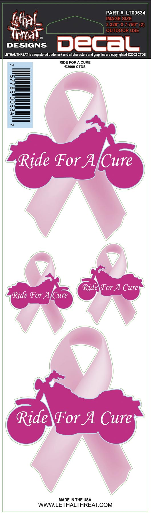 Lethal Threat Ride For A Cure Decal