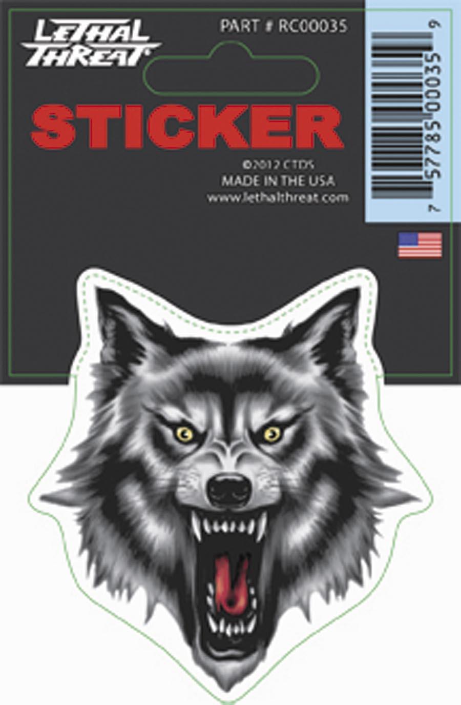 Lethal Threat Wolf Head Decal