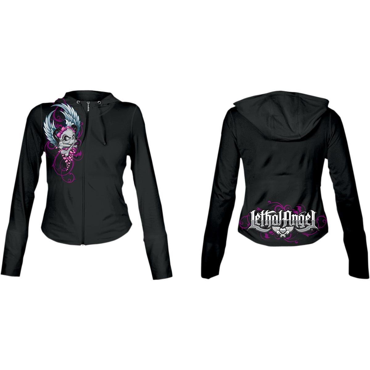 Lethal Threat Girl Skull Womens Hoody