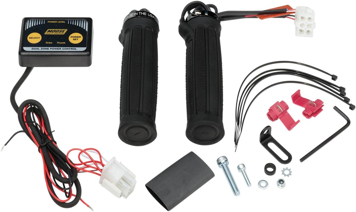 Moose Racing ATV Clamp-On Dual Zone Heated Grip Kit