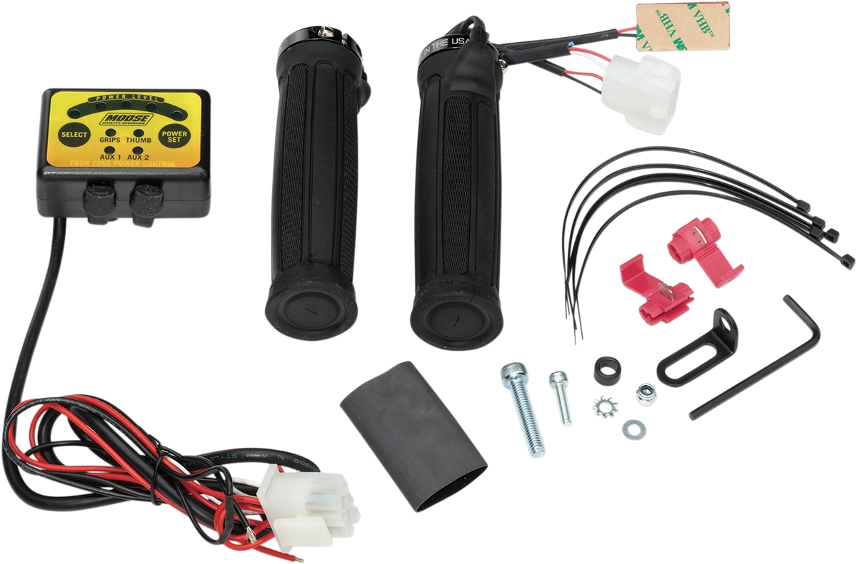 Moose Racing ATV Clamp-On Quad Zone Heated Grip Kit