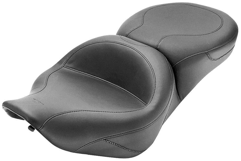Mustang Wide Smooth Touring One-Piece Seat - No Studs