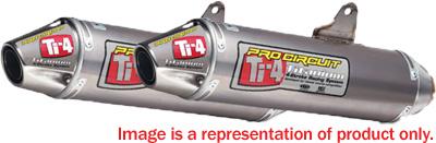 Pro Circuit TI-4 Dual Slip-On Exhaust w/Mid-Pipe