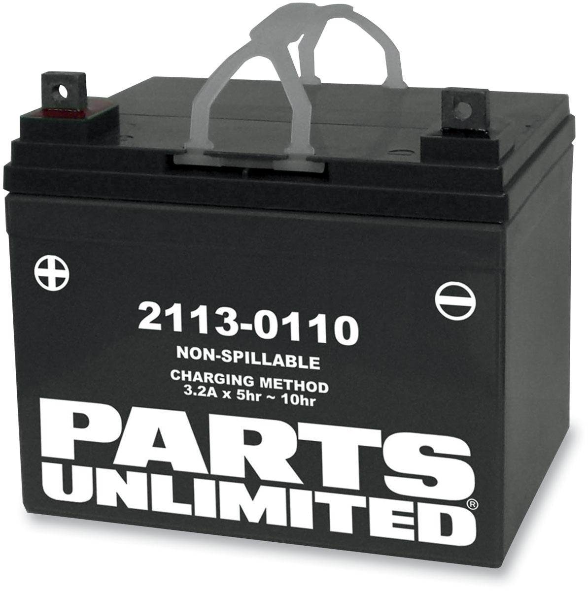 Parts Unlimited AGM Factory Activated Maintenance-Free Battery