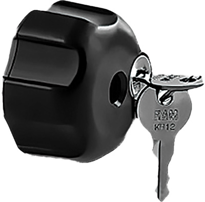 Ram Mounts Knob with Keyed Lock and 1/4in. - 20 Brass Hole
