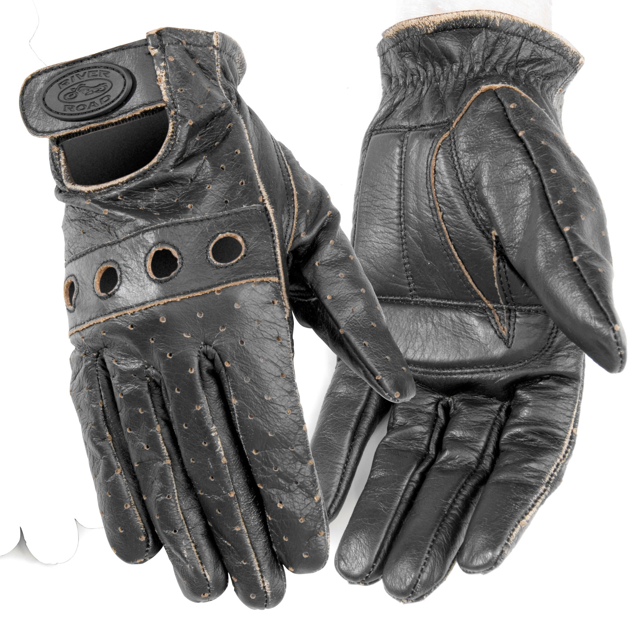 River Road Outlaw Vintage Leather Gloves