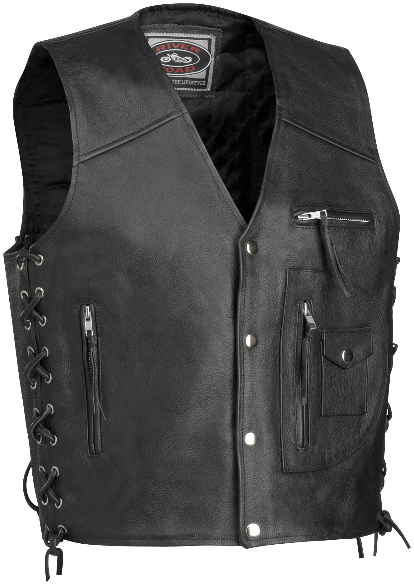 River Road 4-Pocket Leather Vest