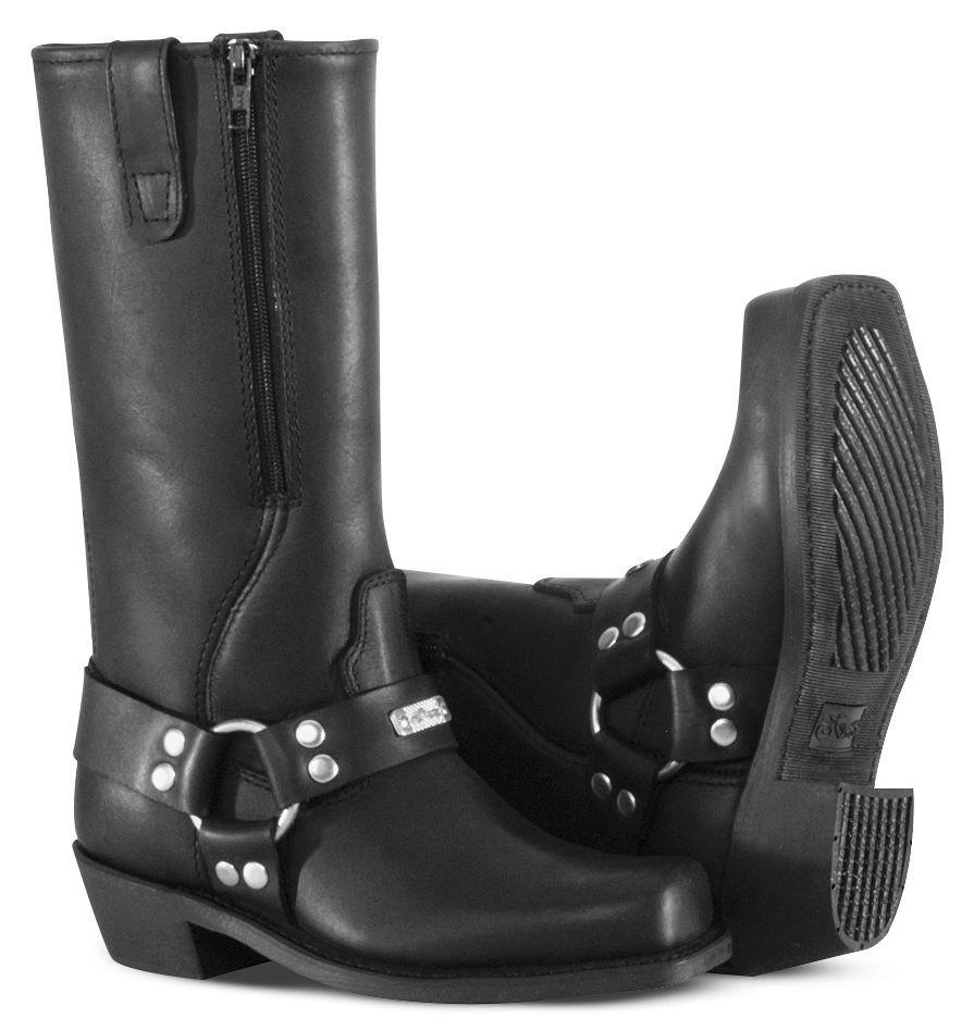 River Road Womans Zipper Harness Boots
