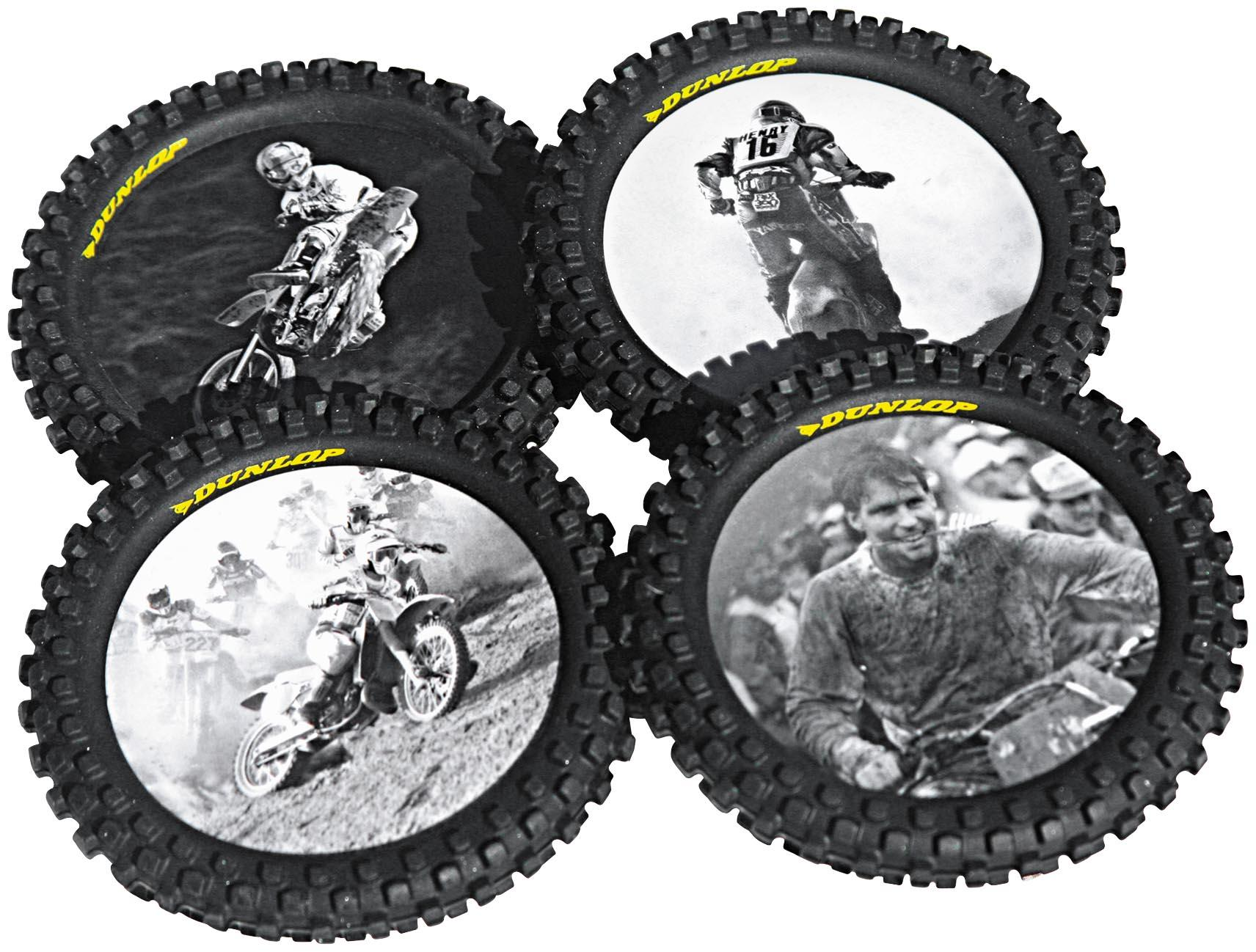Smooth Industries Knobby Tire Drink Coasters