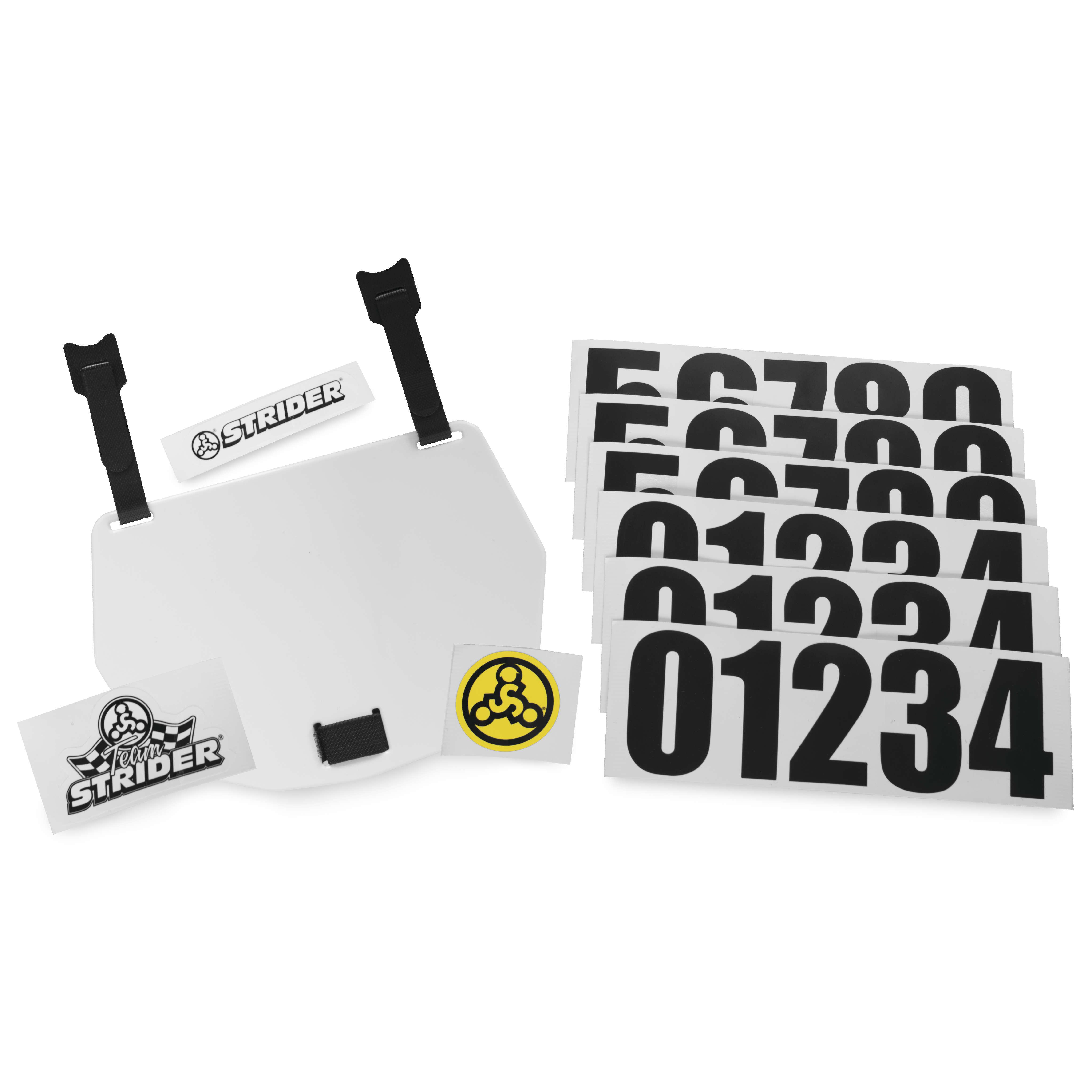 Strider Number Plate