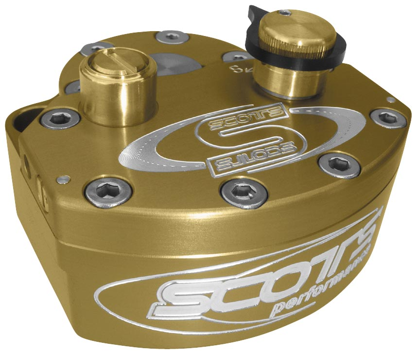 Scotts Performance Steering Damper with Clip-Ons