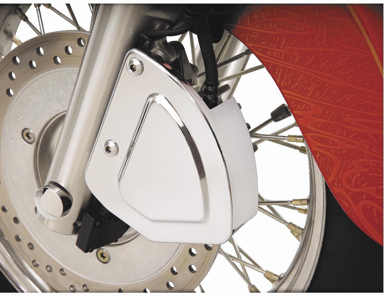 Show Chrome Stepped Front Brake Caliper Cover