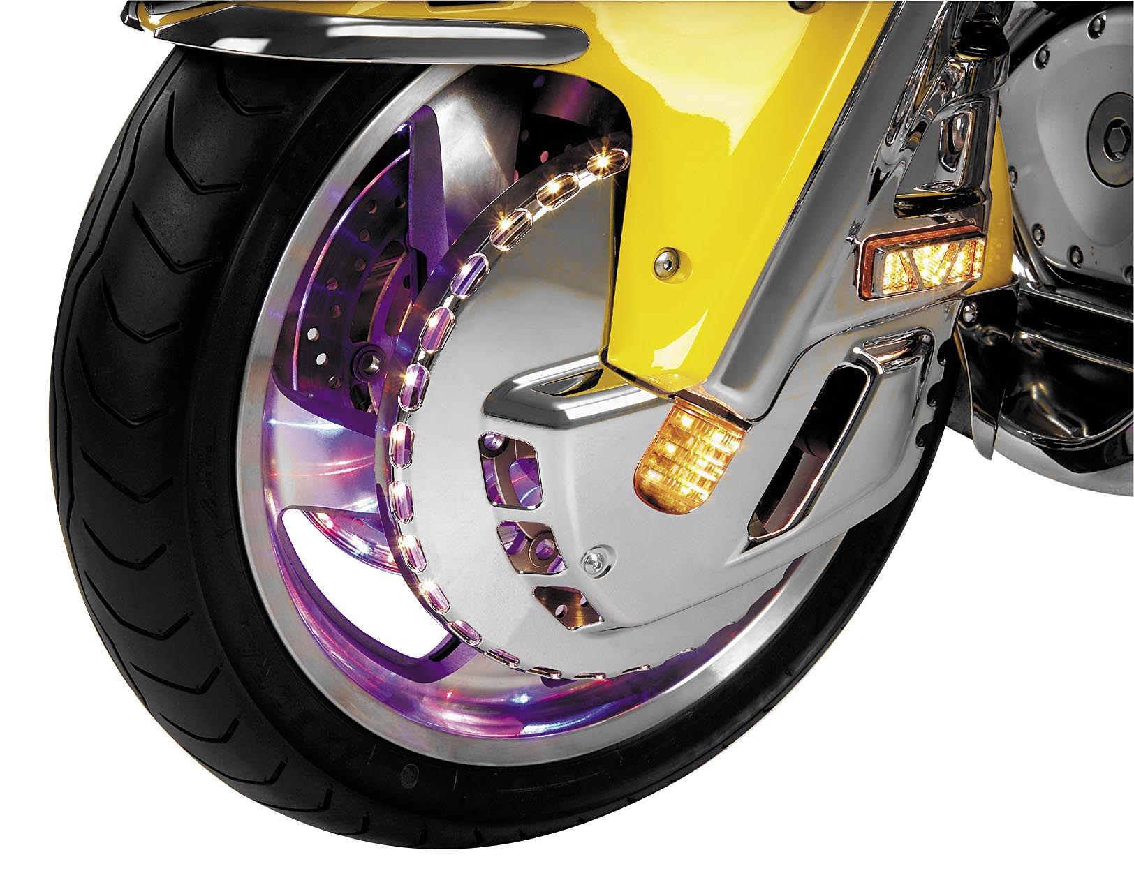 Show Chrome Lighted Rotor Cover