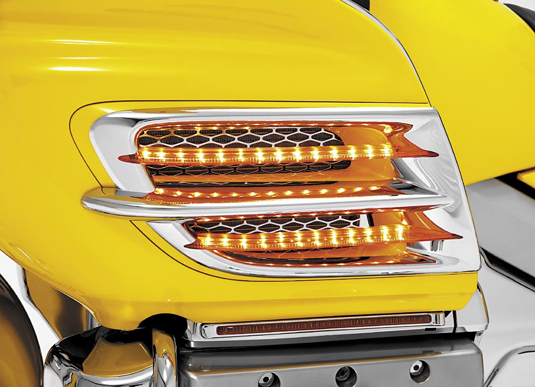 Show Chrome LED Side Fairing Accent Trim