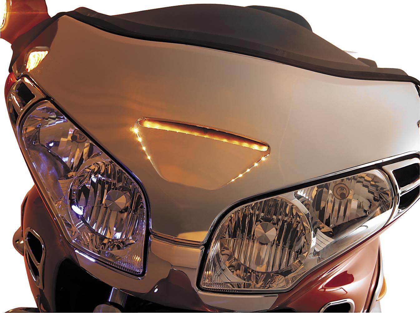 Show Chrome LED Windshield Garnish