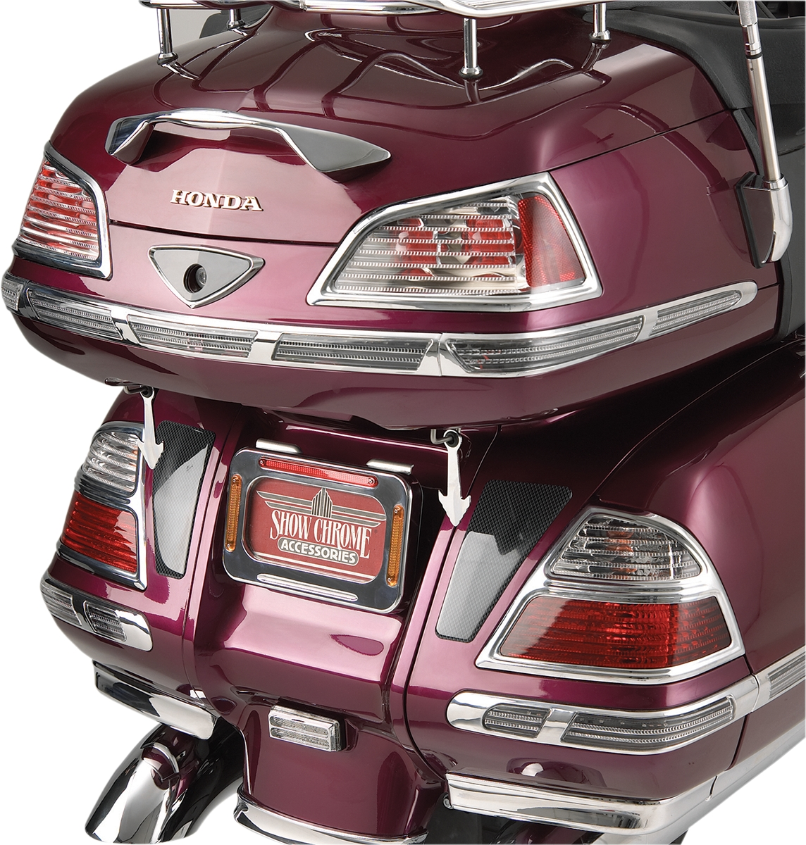 Show Chrome Molding Insert - Trunk Grille