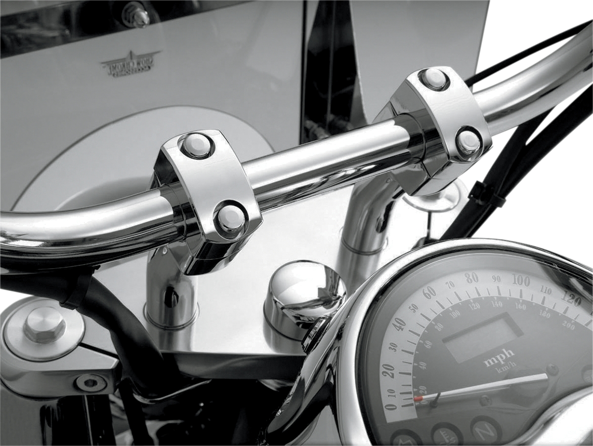 Show Chrome 4in. Classic Pull Back Risers