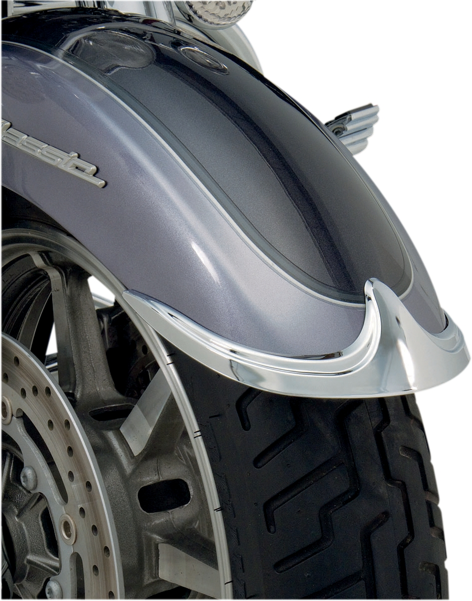 Show Chrome Front Fender Tip Accent