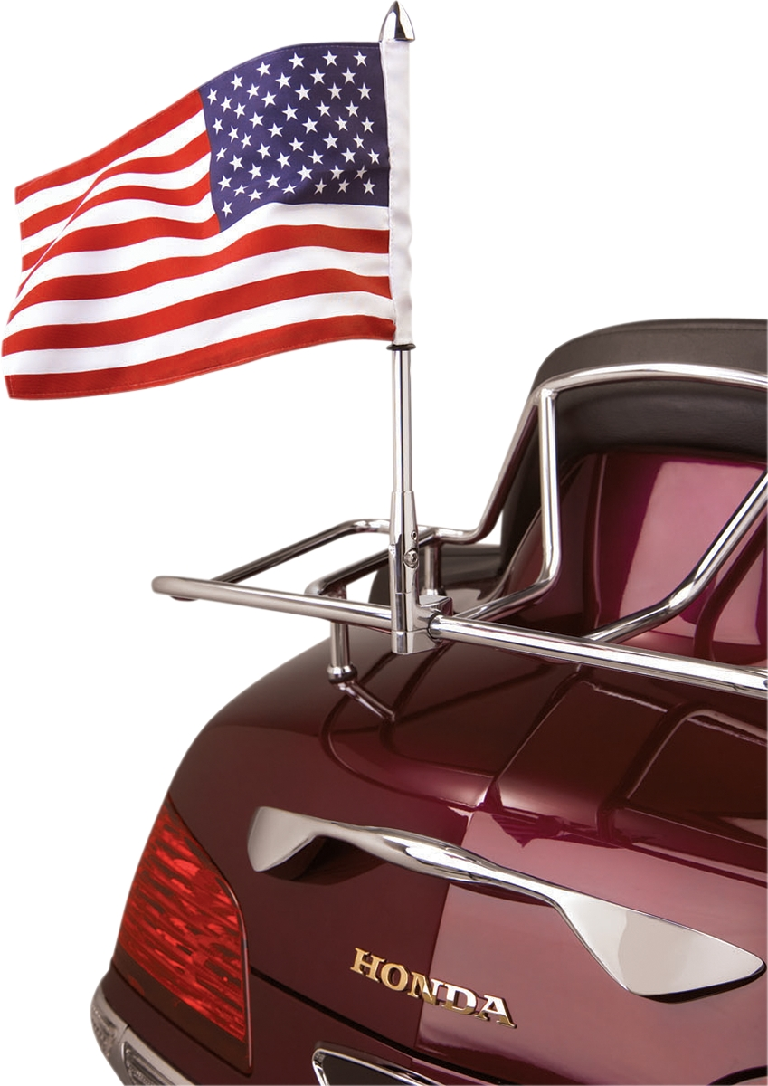Show Chrome Flag Pole Luggage Mount