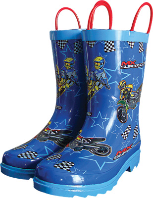 Smooth Industries MX Superstars Youth Rain Boots