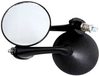 Sports Parts Round Shape Rear View Mirrors