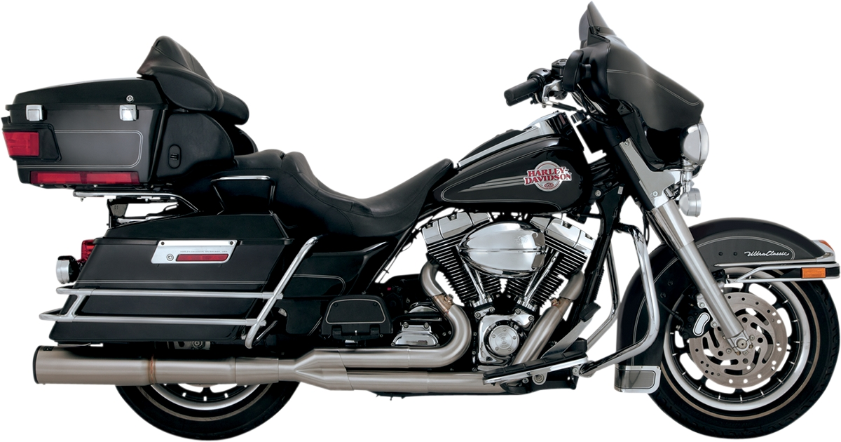 Vance & Hines Stainless Hi-Output 2-Into-1 Exhaust System Brushed Stainless Steel