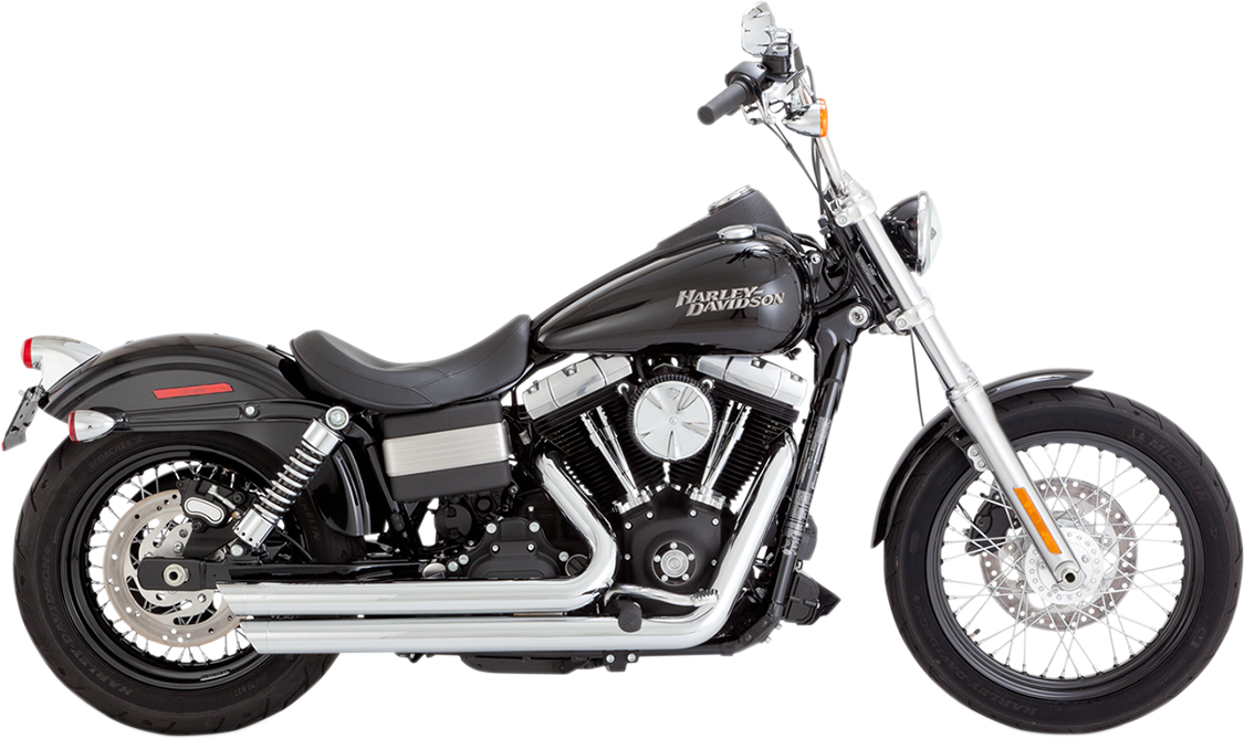 Vance & Hines Chrome Big Shots Staggered Exhaust System