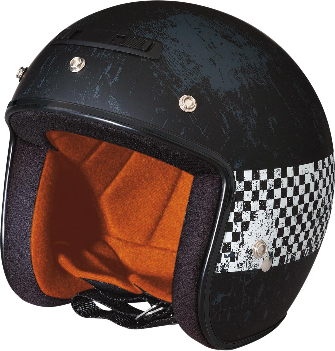Z1R Jimmy Distressed Checker Helmet