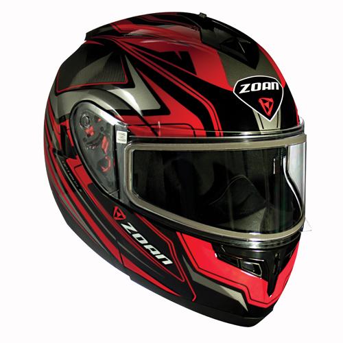 Zoan Optimus Modular Electric Shield Eclipse Graphic Snow Helmet
