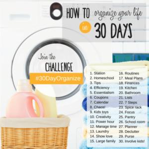 30 Day Organized Challenge