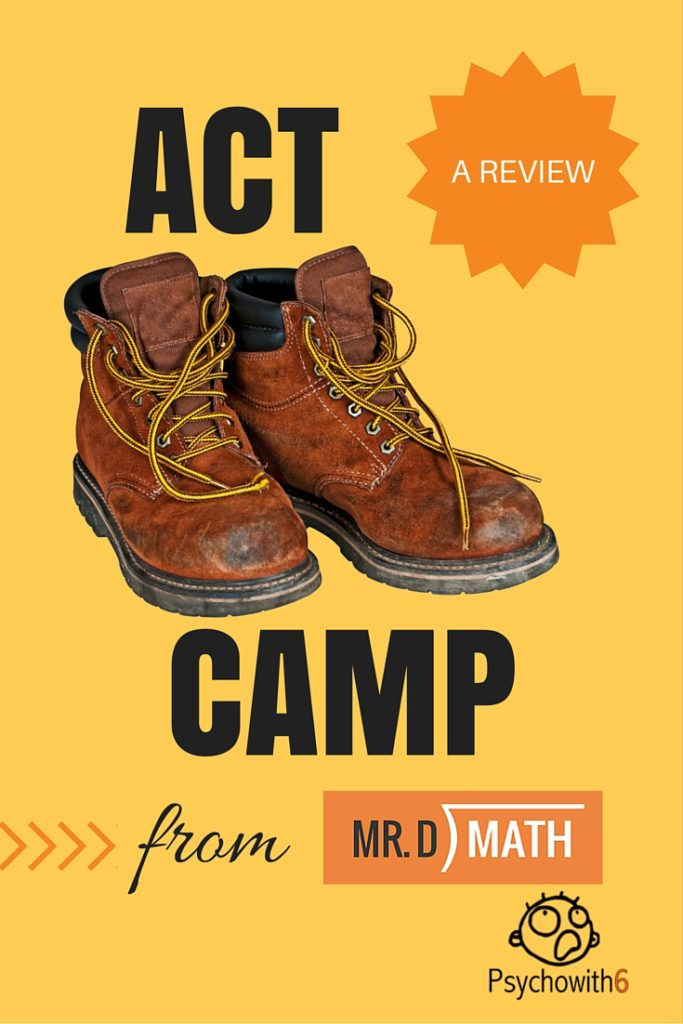 ACT Math Boot Camp from MrD Math: a Review