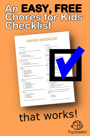 An Easy, Free Chores for Kids Checklist That Works