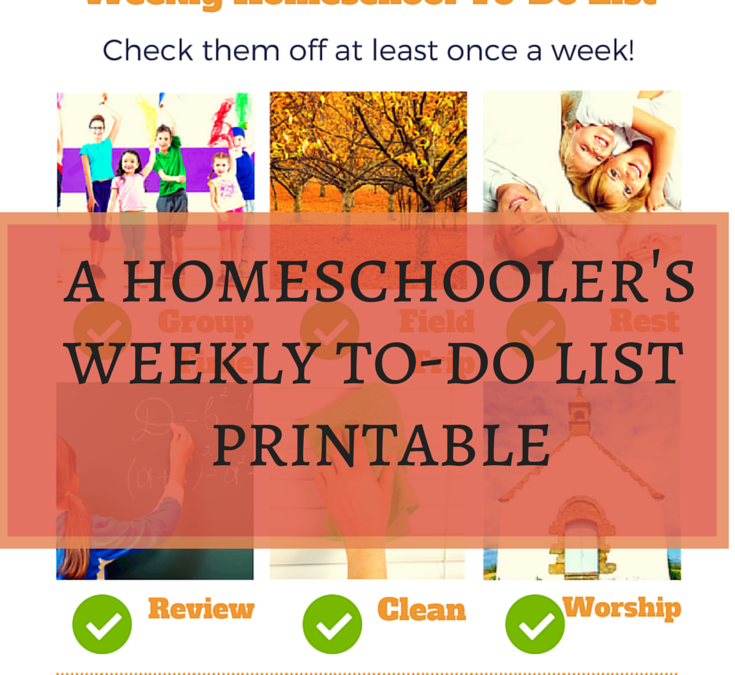 Free Homeschool Weekly To-Do List Printable